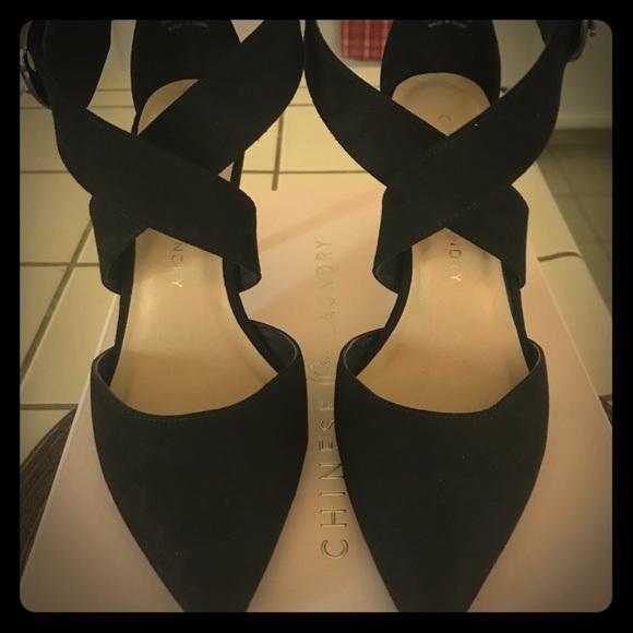 9e94c984ca7b Black Z-Racquel Strap Heels